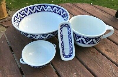Antique Brown-Westhead, Moore & Co Blue And White Washing And Chamber Set • 10£