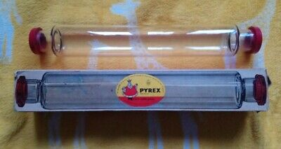 Vintage Pyrex Glass Rolling Pin With Red End Caps • 9.99£