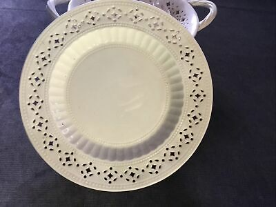 Hartley Greens And Co Leeds Pottery Creamware Pierced Plate 7inches Dia • 12£