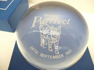 Caithness Crystal Spillers Purrfect Paperweight Boxed Special Edition 1991 • 6.99£