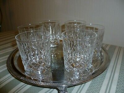 Edinburgh Crystal  Appin  Tumblers 2 7/8 Inch X 2.5 Inch Across- Set Of 6 Signed • 24£