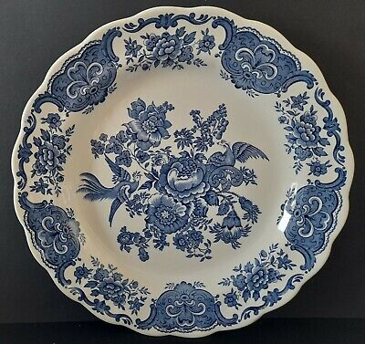 Vintage Blue White Dinner Plate Ridgway Staffordshire Windsor Asiatic Pheasants • 5.99£