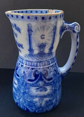 Antique 1906 Royal Doulton Masonic Jug Pitcher Ancient Landmark Lodge Portland • 19.99£