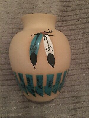 Vase Unique Signed Marilyn Wiley Southwest American Pottery Native Design Pot • 18£