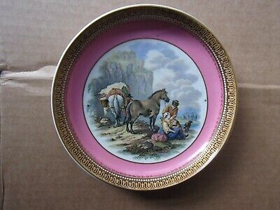 Prattware Pot Lid Style Saucer Early Issue Pink • 9.99£
