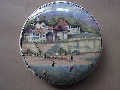 Prattware Pot Lid The Four Shrimpers Early Issue 1850's • 29.99£