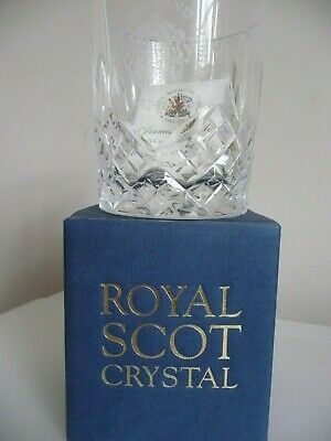 Royal Scot Crystal Queens Diamond Jubilee Hand Cut Engraved Glass 2012 RARE  • 3.90£