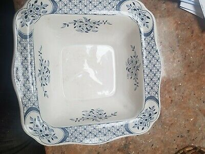 Antique Furnivals Old Chelsea Lidded Tureen Blue & White Birds Vegetable Dish • 11.80£