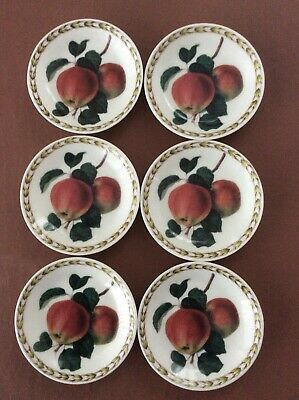 QUEENS HOOKERS FRUIT Set Of 6 SMALL DISHES 10.75cm Dia • 10£