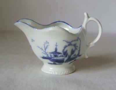 Caughley Porcelain  Creamer  Gadroon Boat  Shape Hand Decorated & Tally Mark • 50£
