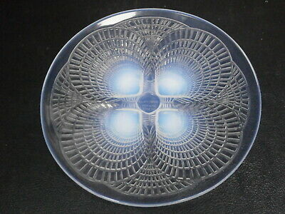RENE LALIQUE GLASS ART DECO COQUILLES PLATE C1932  PLATE 5 Design 3013  STUNNING • 175£