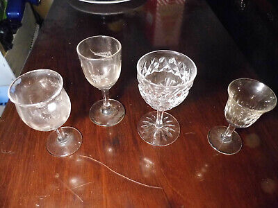 Antique Victorian Drinking Glass Collection. • 12.99£