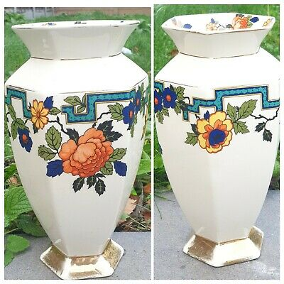 Clifton - Vase Gilded, Floral Rare Beautiful • 27.99£