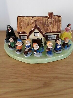 Wade Porcelain China Whimsies Snow White And The Seven Dwarfs • 15£