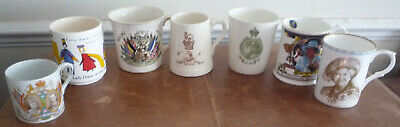 Royal Commemorative Mugs  + WW1 Victoria George V Elizabeth COLLECTION ONLY GU14 • 4.99£