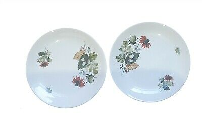 2 Floral Plates Pangborne Ridgway Ironstone Made In Staffordshire England  • 35£
