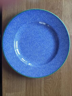 Royal Wessex Denim Pattern Country Picnic Side Plate Blue Green Rim • 3.99£