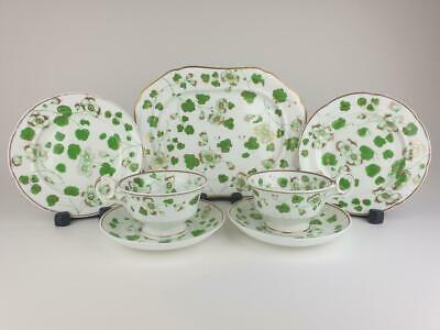 Scarce OVERSIZED Ridgway Group TWO Breakfast Cup Trios & Oval Platter 2/3701 • 150£