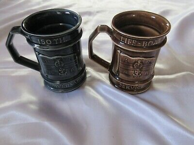 2 Holkham Pottery RNLI Mugs 150th Anniversary Solent Lifeboat • 8.99£