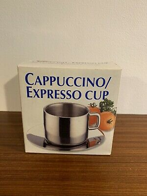 Cappuccino Espresso Cup And Saucer New Unused Contemporary • 3£