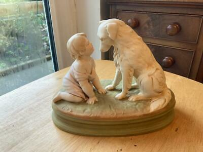 Royal Dux Child With Dog 'can't You Talk' Model 2369 • 275£