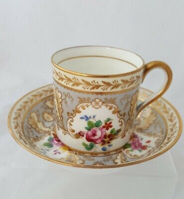 Brown Westhead Moore Cauldon Demitasse Cabinet Cup And Saucer - Super Condition • 24.99£