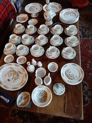 Huge, Beautiful Collection Of Aynsley Cottage Garden Bone China, 15 Trios + • 10£
