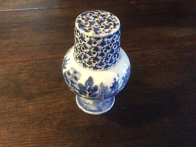 19th Century Blue And White Pottery Pepperette • 40£