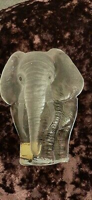 Glass Elephant  Paperweight Full Lead Crystal   • 13£