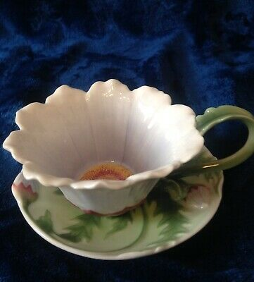 Franz Daisy Cup And Saucer -  Mint • 29£
