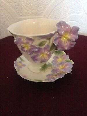 Franz  Cup And Saucer - Pansy FZ00459. • 35£
