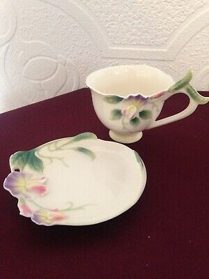 Franz Sweet Pea Cup And Saucer FZ00421 • 25£