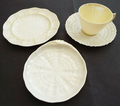 Irish Belleek Collection:cup & Saucer, 2 Dishes, Echinus/Shell 5th Mark • 14.99£