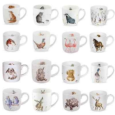 Wrendale Mugs By Royal Worcester Choice Of Designs Fine Bone China NEW • 11.95£