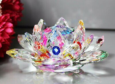 Large Multi Crystal Lotus Flower Ornament With Gift Box  Crystocraft Home Decor • 13.99£