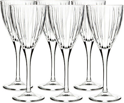 Royal Doulton Crystal Linear 6 Wine Glasses (boxed) - New • 42.50£