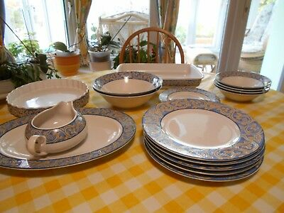 BHS Blue  Seville-, 4 Cereal Dishes £15.95 Flan Dish £11.95 Lasagne Dish £14.95 • 15.95£