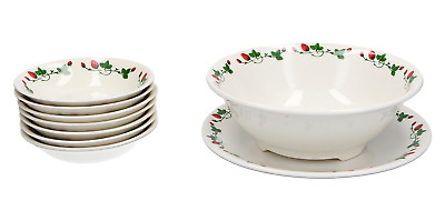A Gien Strawberry Serving Set French Pottery • 94.95£