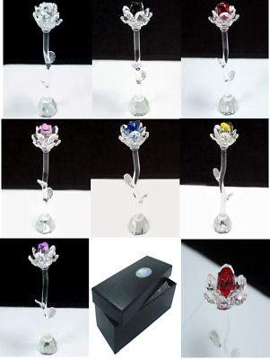 Star Crystal Roses Gift Boxed Love Rose Valentine's Glass Ornament • 11.68£
