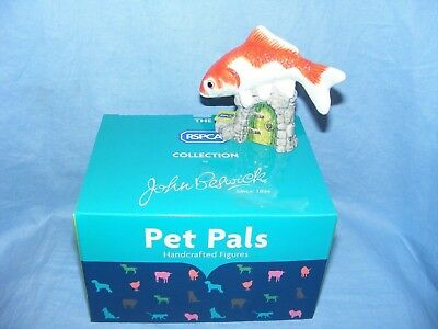 John Beswick Goldfish JBDP3 New Boxed Figurine Birthday Present Gift RSPCA Pet • 24.95£