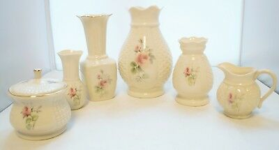 6 X Donegal Parian China Rose Pattern  • 35.99£