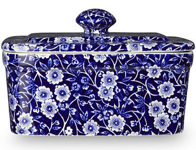 Burleigh Calico Blue Butter Dish With Lid - New/unused • 45£