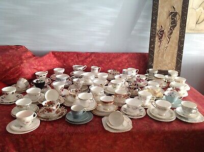 An Assortment Of Vintage China Tea Cup Trios • 6.50£