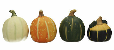 4 X Pottery Squashes / Vegetables Hand Painted • 24.95£