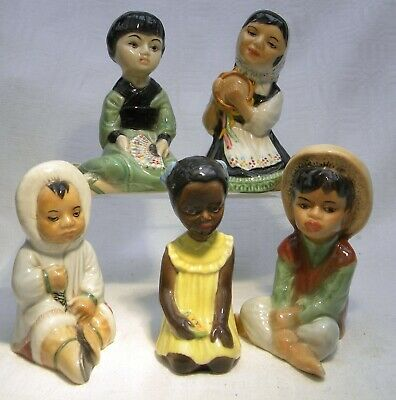 RETRO 1950's BRANKSOME POTTERY CHILDREN OF THE WORLD CHILD FIGURE SELECTION • 24.99£
