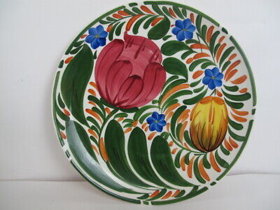 Wade Plate Dish Floral Tulips Flowers Hand Painted Pottery Royal Victoria • 6.95£