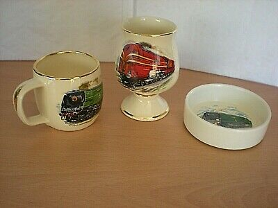 3 Items Of Prinknash Pottery - ALL Are Railway Related - ALL In V.G.C.  • 12.50£