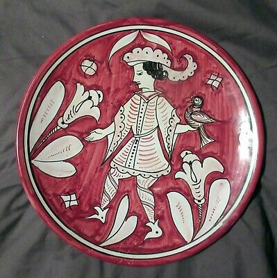 Vintage Deruta Pottery Plate With Figure Italy VGC • 19.99£