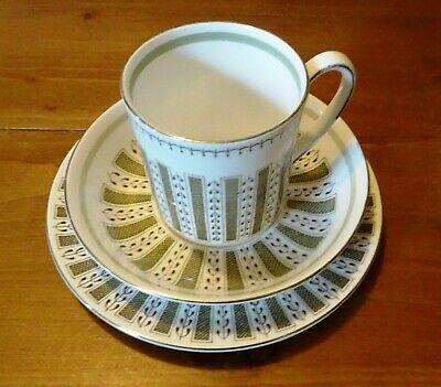 Susie Cooper Wedgwood Persia Pattern Trio Cup Saucer & Side Plate • 11.99£