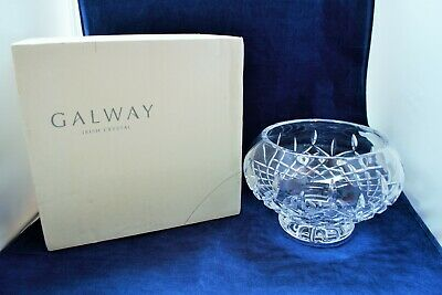 Galway Irish Crystal Footed Bowl 24% Lead With Box • 26.99£